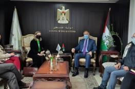 الوزير عساف يلتقي بممثلة كندا في رام الله