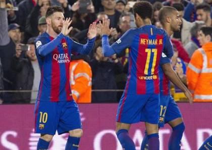 برشلونة يواصل مطاردته ريال مدريد بالفوز على فالنسيا