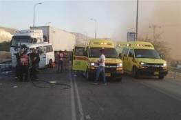فيديو لحظة الحادث.. مصرع 7 عمال فلسطينيين من القدس في حادث سير مروع