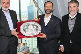 هنية يلتقي رئيس رابطة برلمانيون لأجل القدس