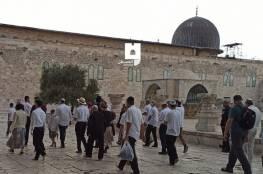 مئات المستوطنين يقتحمون الأقصى والاحتلال يعتقل سيدة وشابا من باحاته