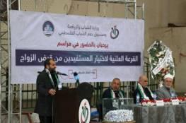 أسماء المشمولين في القرعة العلنية لقرض الزواج بغزة فبراير 2020