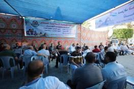 خيمة عزاء لشهداء جنين والقدس الخمسة وسط مدينة غزة