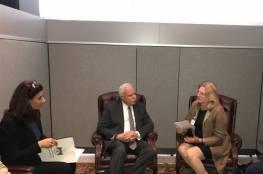 المالكي يطلع وزيرة خارجية النمسا على اعتداءات الاحتلال