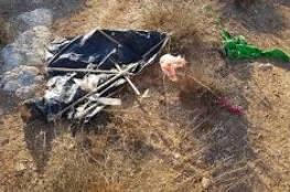 سقوط طائرة ورقية اطلقت من نابلس داخل مستوطنة ارئيل