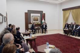 """الرئيس عباس يستقبل وفدا من منظمة """"جي ستريت"""" الأميركية"""
