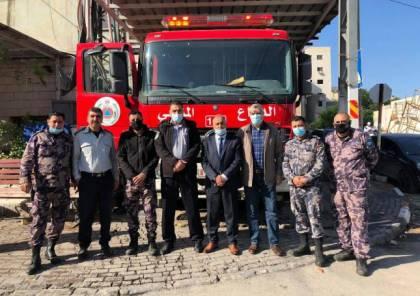 جنين: تسلم مركبتي إطفاء لمدينة جنين ومركز برطعة