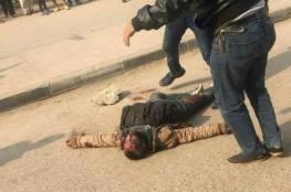 استشهاد شرطي وثمانية مواطنين في هجوم على كنيسة جنوب القاهرة و مقتل احد المسلحين