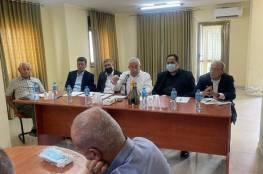 """تفاصيل اجتماع العالول مع أمناء سر أقاليم حركة """"فتح"""" ومسؤولي لجان الأسرى"""