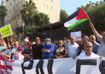 """""""المئات يهتفون في الشيخ جراح """"لا للاحتلال ولا للتطهير العرقي"""""""