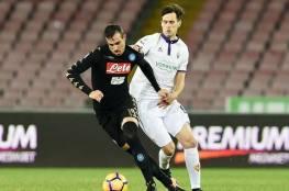 نابولي يتخطى فيورنتينا ويبلغ نصف نهائي كأس إيطاليا