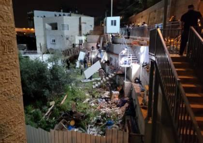 تسريب 3 بنايات سكنية وقطعة أرض في سلوان جنوب الأقصى
