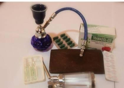 غزة: مكافحة المخدرات تضبط 6 فروش حشيش وألف حبة مخدرة