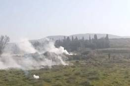 إصابات بالاختناق خلال مواجهات عقب اقتحام مستوطنين تقوع