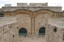 """الاحتلال يزيل السلاسل الحديدية عن """"باب الرحمة"""" بالمسجد الاقصى"""
