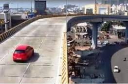 شاهد.. سقوط سيارة في الهند من أعلى جسر على رؤوس المارة