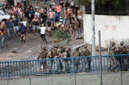 إصابة 15 جنديا لبنانيا خلال مواجهات مع محتجين في طرابلس