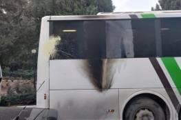 رشق حافلة مستوطنين يستقلها المتطرف سموتريتش قرب جنين بزجاجات حارقة