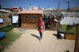 الفن وسيلة الفلسطينيين للحفاظ على جمال شاطئ غزة..صور