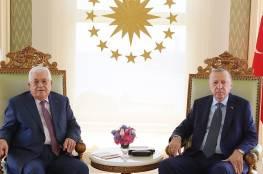 أردوغان للرئيس عباس: لن نلتزم الصمت حيال الظلم الإسرائيلي في فلسطين...