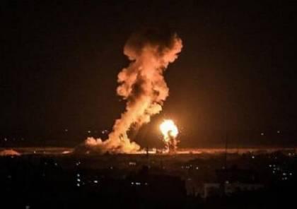 طائرات الاحتلال تقصف موقعا للمقاومة شرق دير البلح