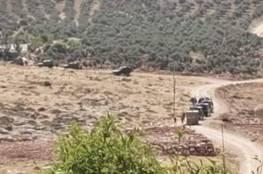 """انسحاب قوات الاحتلال من محيط عقربا بعد عدم العثور على """"المطلوبين"""" في المنزل الذي حاصرته"""