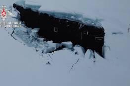لأول مرة في التاريخ .. 3 غواصات نووية روسية تخرج من تحت جليد الشمال في وقت واحد(فيديو)