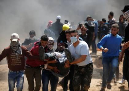 74 اصابة بمسيرات العودة شرق قطاع غزة