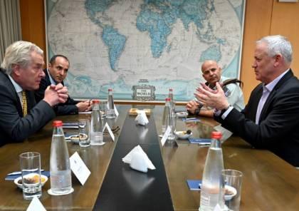 غانتس يكشف تفاصيل اجتماعه مع المبعوث الاممي للسلام بشأن قطاع غزة