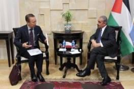 """اشتية يطّلع من السفير الياباني على التحضيرات لعقد مؤتمر """"سيباد"""""""