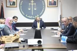 رام الله: النائب العام يناقش سير العمل مع رؤساء النيابات المتخصصة