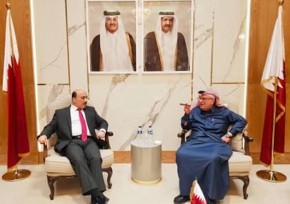 الدكتور الحساينة يلتقي السفير العمادي ويثمن جهود دولة قطر