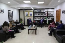الشيخ يبحث مع وزير الخارجية البرتغالي آخر المستجدات السياسية
