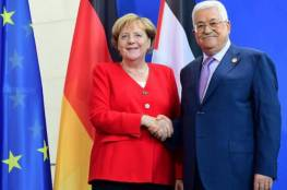 اتصال هاتفي بين الرئيس عباس والمستشارة الألمانية ميركل.. اليك تفاصيله