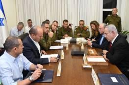 """قناة عبرية تكشف تفاصيل الاجتماع الاستثنائي لـ""""الكابينت"""""""