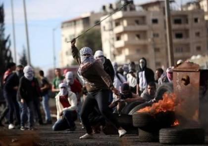 14 اصابة بالمطاط والعشرات بالاختناق خلال مواجهات مع الاحتلال في البيرة
