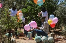 صحيفة تكشف أسباب عودة اطلاق البالونات الحارقة نحو مستوطنات غلاف غزة