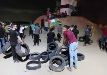 اصابات جراء قمع الاحتلال للمتظاهرين المتواجدين في مخيم العودة شرقي جباليا