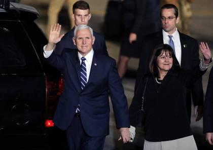 بحماية 1000 شرطي.. صور: نائب الرئيس الأمريكي يصل إسرائيل في زيارة تستغرق يومين