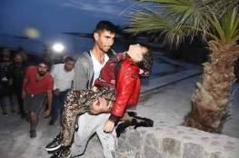 شاهد .. وفاة طفلة من غزة في غرق قارب مهاجرين في تركيا