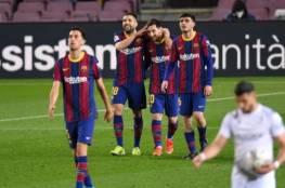 رد فعل لاعبي برشلونة بعد تعثر أتلتيكو مدريد