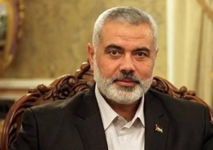 تفاصيل لقاء وفد حماس برئاسة هنية مع وزير الخارجية القطري..