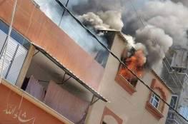 اندلاع حريق في منزل بمنطقة الشيخ رضوان