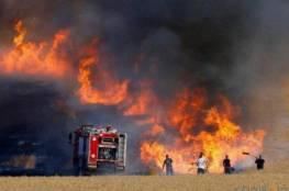 إخماد حريق بين سيريس وياصيد