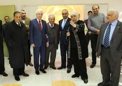 """رام الله: اطلاع رجل الأعمال الحرازين على مشروع مبنى """"حسن الحرازين الأكاديمي"""""""