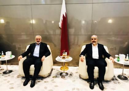 هنية يصل الدوحة ويلتقي برئيس المكتب السياسي السابق لحماس