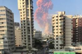 بالفيديو والصور: إصابات وأضرارا كبيرة في المنازل.. انفجار كبير يهز العاصمة اللبنانية..