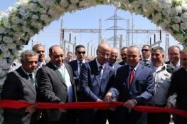 صور: الحمدلله يفتتح برفقة وزير الطاقة الاسرائيلي محطة تحويل الطاقة الكهربائية