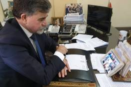 السفير عبد الهادي يبحث مع سفير العراق لدى سوريا مستجدات القضية الفلسطينية