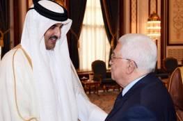 الرئيس عباس يُجري اتصالًا هاتفيًا مع أمير قطر